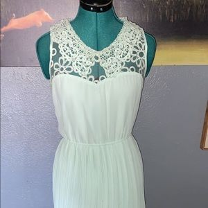 Mint green vintage style party dress